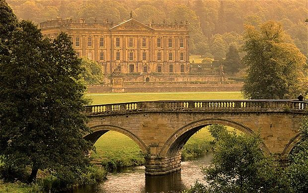 The seat of the Duke of Devonshire, and home to the Cavendish family since 1549, Chatsworth House sits close to the River Derwent in 1,000 acres of parkland. The house contains dozens of antiques and artwork, and the large gardens receive 300,000 visitors each year. Chatsworth appeared in the 2005 film adaptation of Pride and Prejudice and was also used in the Duchess, starring Keira Knightley.