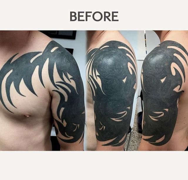55 best cover up tattoos images on pinterest cover up for Tribal tattoos for cover up