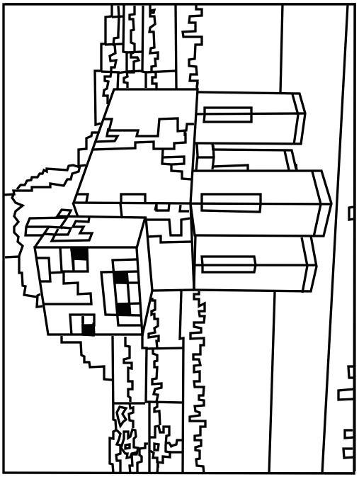 Printable Minecraft Cow coloring