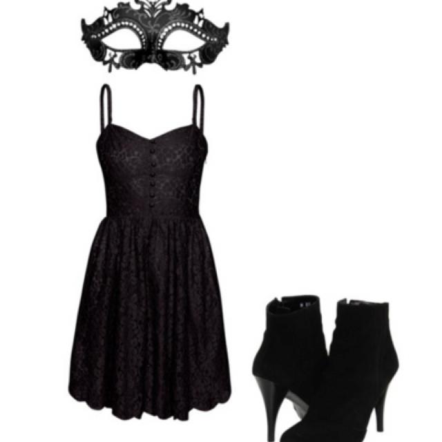 Black and White Masquerade Dress Ideas