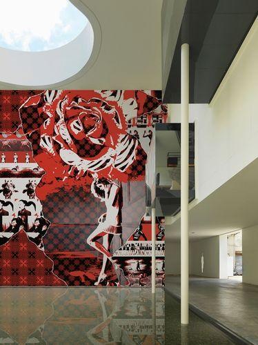 Papier peint motif floral / scène / design PLANET PUNK by Giovanni Pagani Wall&Deco