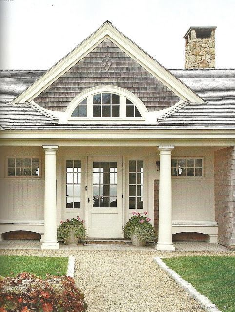 422 best home exterior images on pinterest cottage for Cape cod stone and gravel