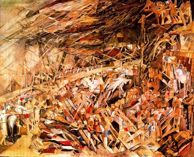 Vieira da Silva, Maria Helena - Desastre - Abstract Expressionism