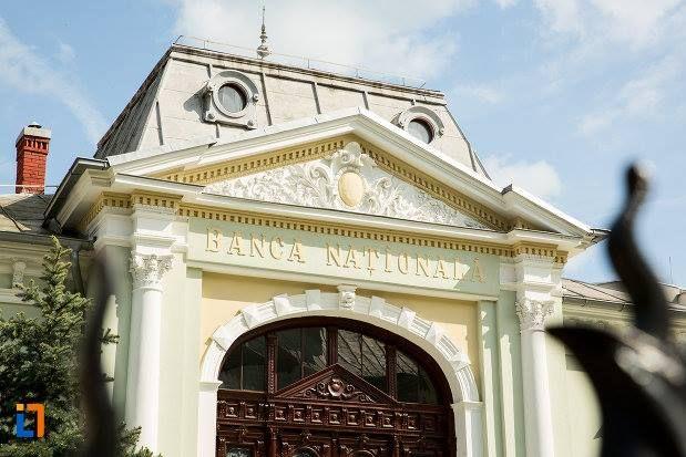 Casa Ion Carabatescu (1896) - detaliu, azi Banca Națională a României sucursala Târgu Jiu, strada Geneva 4