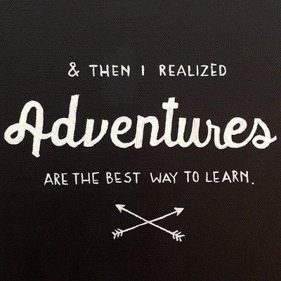 Be adventurous! #realise #learn #annaninanl