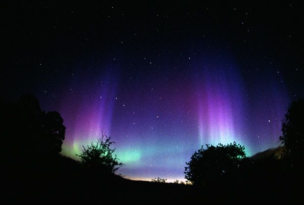 The aurora borealis or northern lights as seen from the UK photographed by Jim Henderson