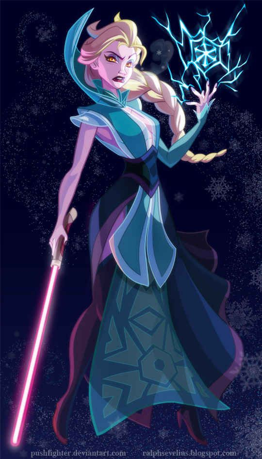 "Sith Elsa | 7 Disney Princesses Who Actually Belong In ""Star Wars"""