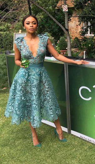 Bonang Matheba Stuns In See-Through Dress For Ciroc