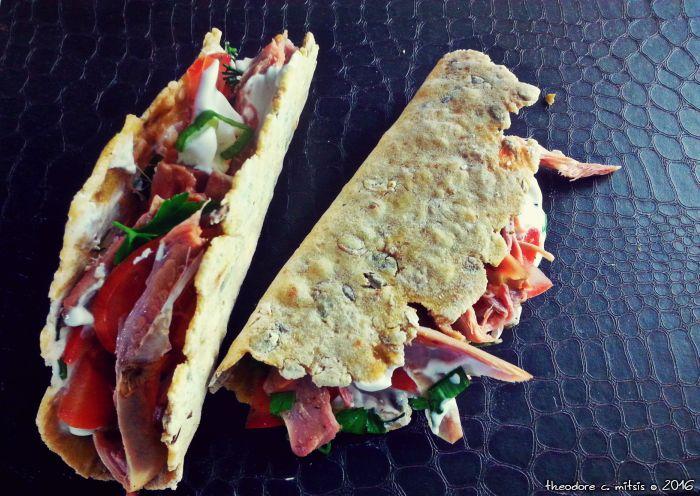 Ηπειρώτικα tacos με πίτες από καλαμπόκι, αλανιάρα κότα