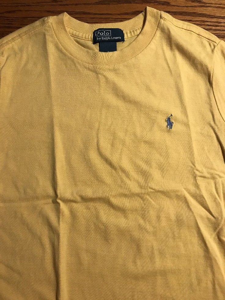 Polo, Ralph Lauren Boys Size 6 Short Slv Yellow Tee Shirt  | eBay