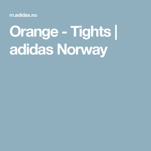 Orange - Tights | adidas Norway