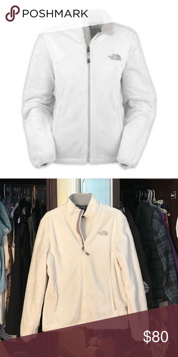 White North Face jacket, fuzzy size Large White North Face jacket, fuzzy size Large, excellent condition North Face Jackets & Coats