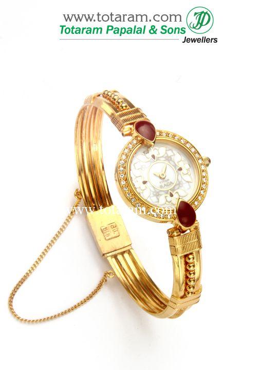 ba87ce528 22 Karat Gold 'TITAN' Watch - Womens Gold Watch | Watches in 2019 | Gold  watches women, Indian gold jewellery design, Gold watch