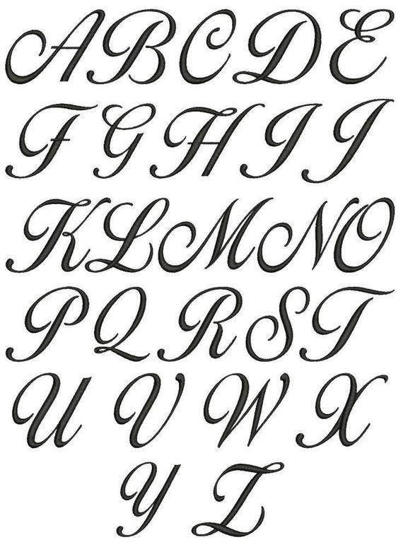 Corsiva Font Alphabet Vinyl Decals Full Alphabet Capital Letters In 2021 Cursive Calligraphy Cursive Fonts Alphabet Lettering Alphabet