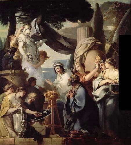 Solomon making a sacrifice to the idols - Sebastien Bourdon