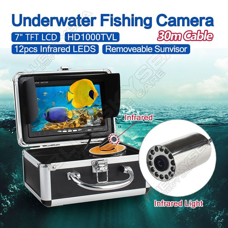 """133.43$  Watch now - http://alipw1.worldwells.pw/go.php?t=32791801148 - """"Free shipping!EYOYO 30m 7"""""""" LCD Monitor HD 1000TVL Fish Finder Infrared Ice/Sea Fishing Camera"""""""