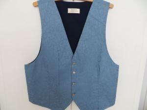 Blue Wedding Waistcoat 40-42. £34.99