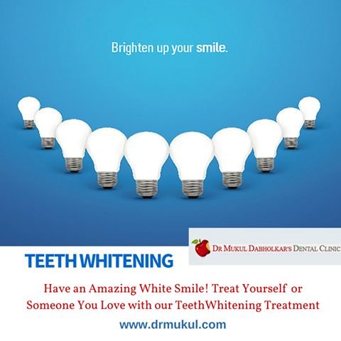 Dr. Mukul Dabholkar's Dental Clinic offers advanced Cosmetic Dentistry involving immediate Teeth Whitening and Bleaching