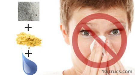 Remède pour le nez qui coule! Moutarde sèche + farine + eau :)