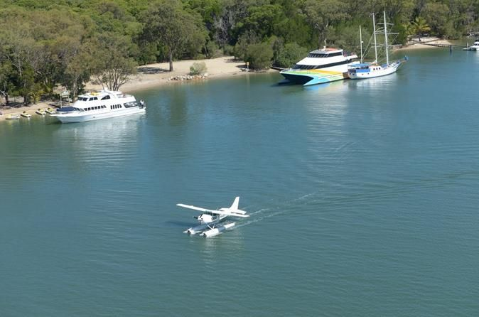 Stradbroke Island by Seaplane from the Gold Coast Take the ultimate day trip to the beautiful South Stradbroke Island by Seaplane. Enjoy a spectacular scenic flight over the Gold Coast then plan an action packed day or just relax in the sub tropical surroundings. Departing Seaworld Resort, you will experience some of the most spectacular coastal scenery in Queensland, combining the world famous beaches of Surfers Paradise, the islands of Moreton Bay and the natural bea...