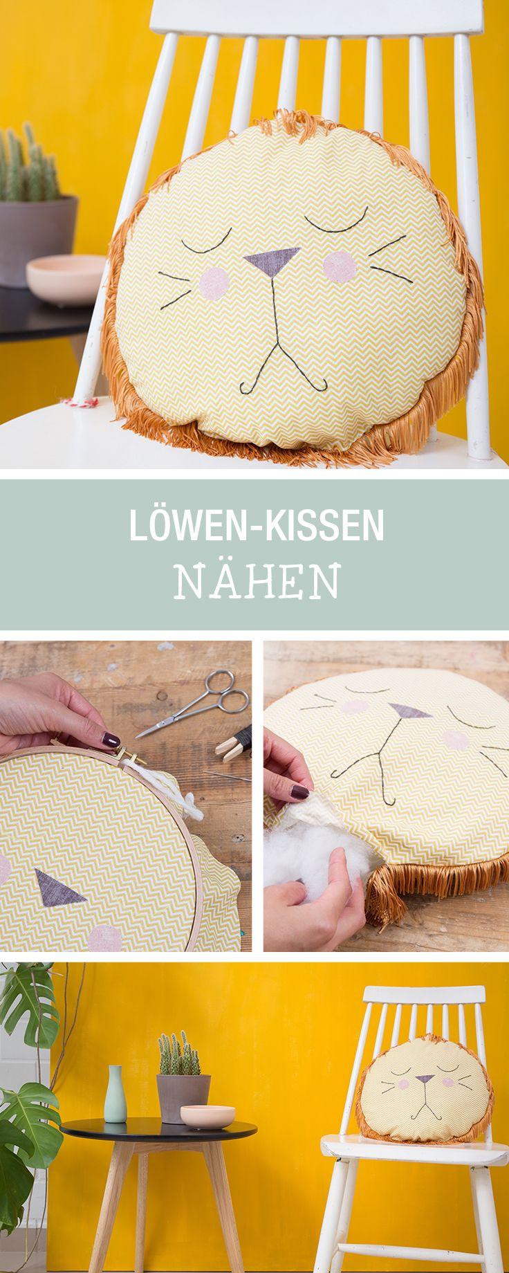 Nähanleitung für ein kuscheliges Löwen-Kissen mit Fransen / cute sewing tutorial: lion cushion via DaWanda.com