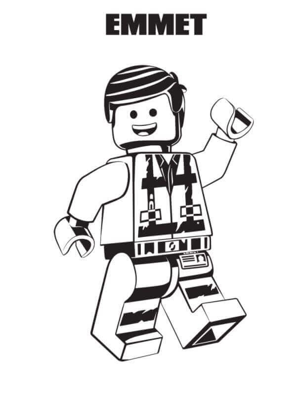 Free Printable The Lego Movie 2 Coloring Page Emmet Lego Movie