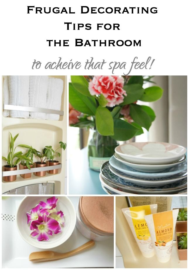 Frugal Decorating Tips for the Bathroom - Up to Date Interiors