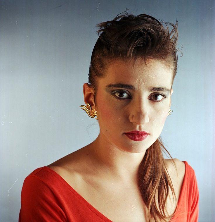 Argentine singer, Hilda Lizarazu. Buenos Aires. 1990.