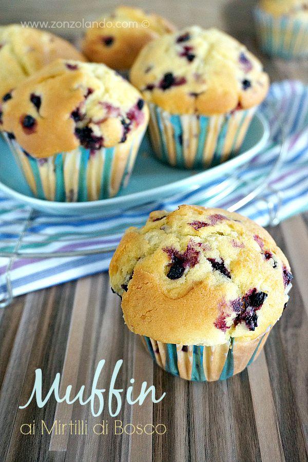 Wild blueberry muffins - Muffin ai mirtilli   From Zonzolando.com