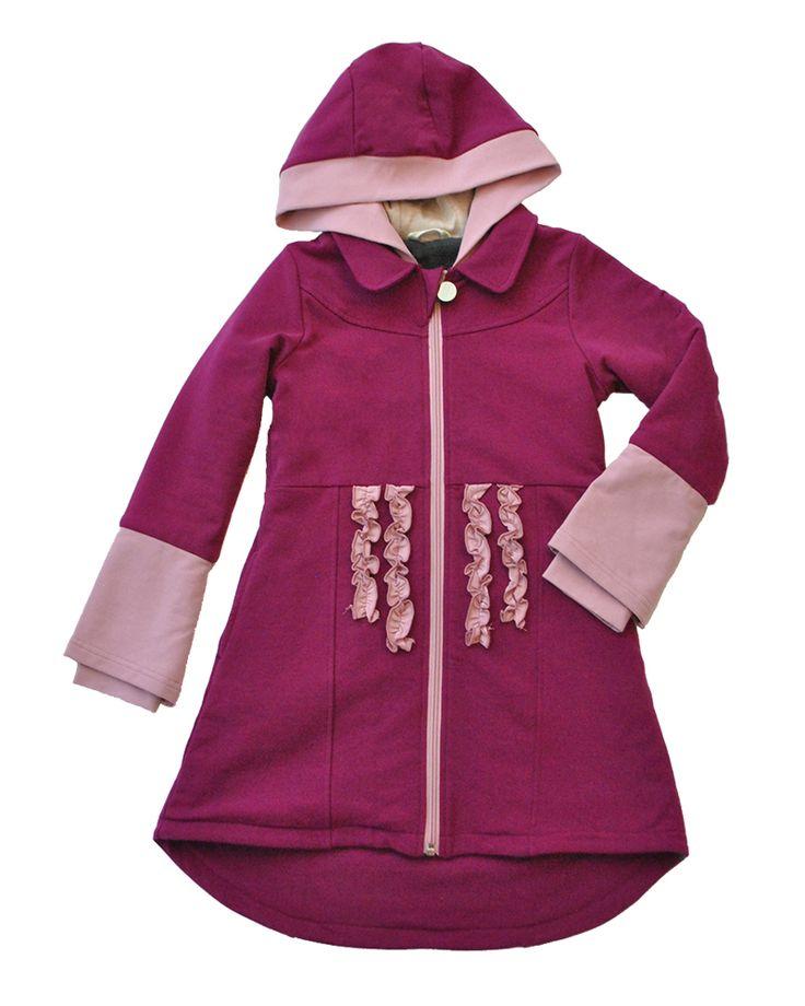 Only A Girl Coat - Cherry Jubilee   Girls - Peekaboo Beans Fall 2016 Collection   www.peekaboobeans.com