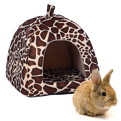 "Rabbit Guinea Pig Hamster House Bed Cute Small Animal Pet Winter Warm Squirrel Hedgehog Chinchilla House Cage Nest Hamster Accessories (9""9""10"", Leopard)  Size:Width:9"" Length:9"" Height:10""Pls check the size before you buy it  Material:Top quality fabric+soft fleece.No harm to your pet.Make you pet have a warm and soft night  Nice shed for its heat preservation to keep your rabbit,squirrel, chinchilla, guinea pig, rat away from the cold, especially in winter.  Super cute strawberry des..."