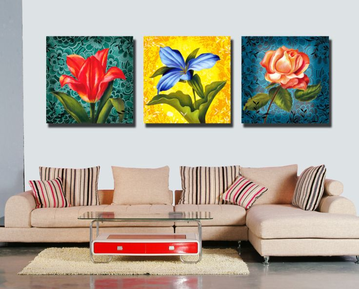 Free ship 3 Colour Abstract Art Flowers Picture cheap modern HD Canvas Print Oil Painting Canvas Wall Art Sticker SYP-0177