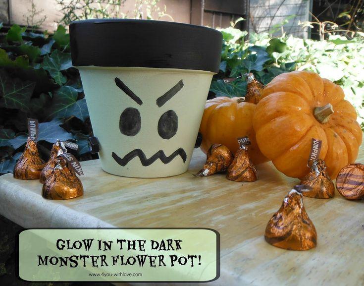 Glow In The Dark Monster Flower Pot (#CraftLightning) - 4 You With Love