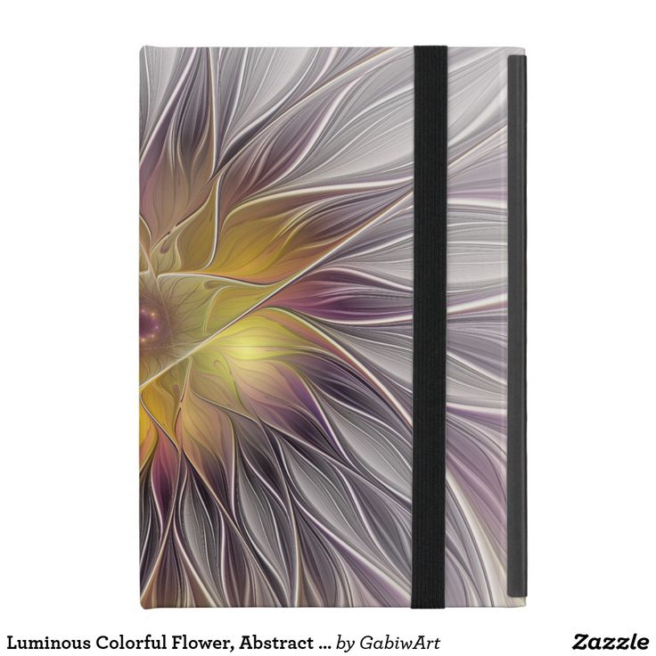 Luminous Colorful Flower, Abstract Modern Fractal Cases For iPad Mini