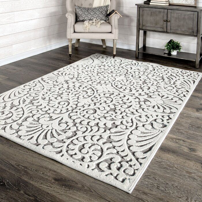 Damask Natural Gray Indoor Outdoor Area Rug Indoor Outdoor Area Rugs Area Rugs Orian Rugs