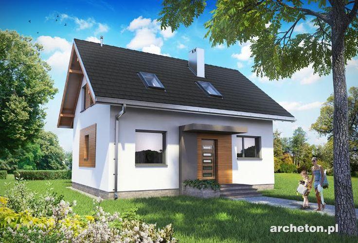 Projekt domu Malik - prosty dom, z użytkowym poddaszem, bez garażu