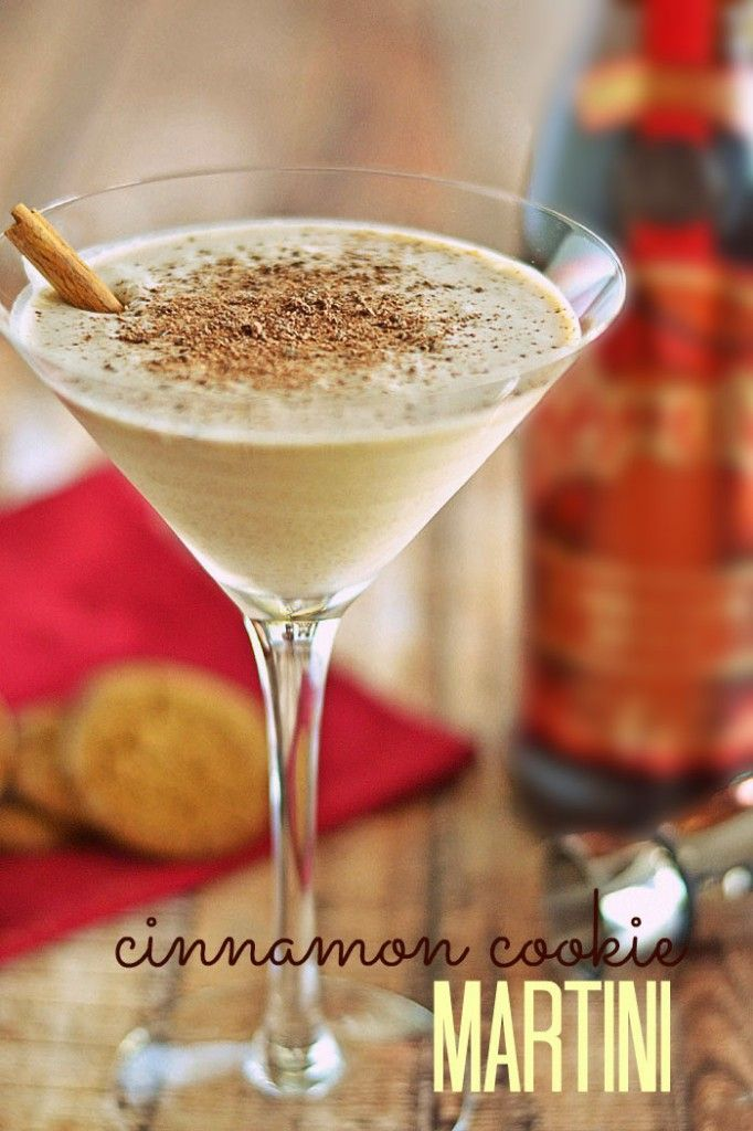 Get into the holiday spirit with these festive Cinnamon Cookie Martinis!