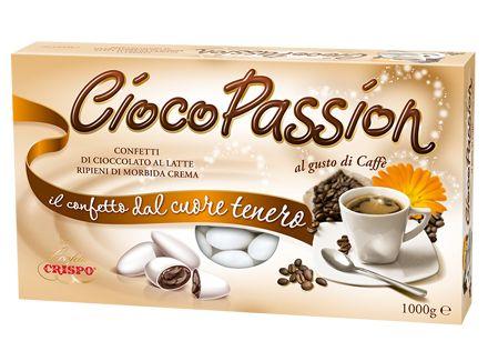 Il gusto intenso del caffè espresso italiano sposa la dolcezza del cioccolato al latte. I Confetti Crispo sono perfetti anche per accompagnare la pausa caffè.
