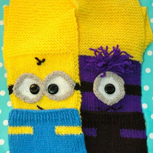 Free Printable Minion Crochet Patterns : 13 best images about Knitting patterns ~ scarves & mittens ...