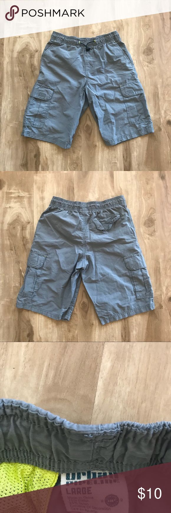 Urban Pipeline Boys Cargo Shorts Urban Pipeline Boys Shorts in Dark Grey. Lightweight fabric 'Elastic waistband, 5-pocket, hits at the knee. Made of 75% Cotton, 25% Nylon. Like New. Excellent Condition. Showing normal and minimal signs of wear. Urban Pipeline Bottoms Shorts