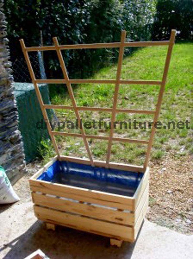 M s de 1000 ideas sobre jardineras con palets en pinterest - Jardineras con palets ...