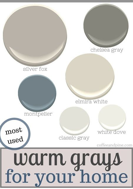 Variety of Benjamin Moore paint color ideas and posts