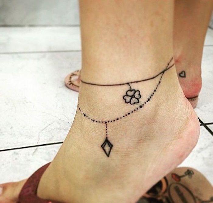 tatouage bracelet cheville – le tattoo à la chaîne | cute piercings