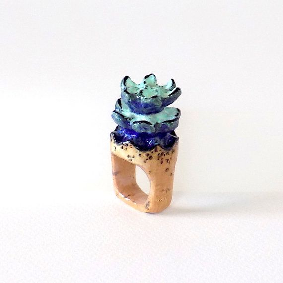RING-Unique-OOAK-Statement Ring-made from a Wine by CharaEm