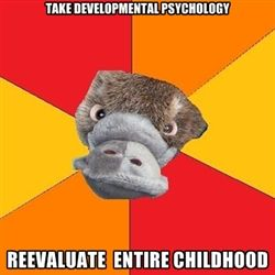 In my case it was 'read Abnormal Psychology, acquire all the disorders' @Pamela Tessier