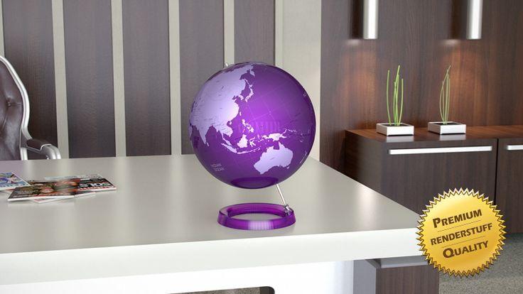 Бесплатная 3D модель - Разноцветные настольные глобусы