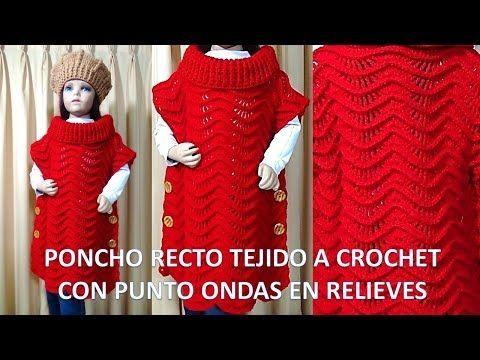 Punto a crochet paso a paso N° 27 para Colchas y cobijas para bebe con puntos en Relieves - YouTube