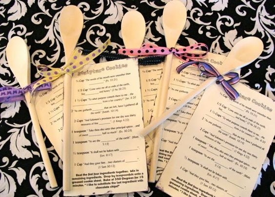 Marci Coombs: Scripture Cookies + Cooking Quiz = a FUN activity for ALL.