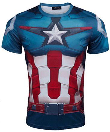 Marvel capitão américa homens musculação collants de respirável compressão camisetas Gym esporte encabeça moda masculina T Plus Size 4XL em Camisetas de Roupas e Acessórios - Masculino no AliExpress.com | Alibaba Group