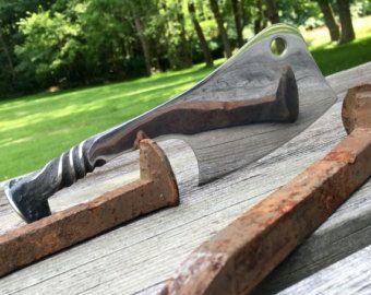 Railroad Spike Knife by AndyAlmKnives on Etsy